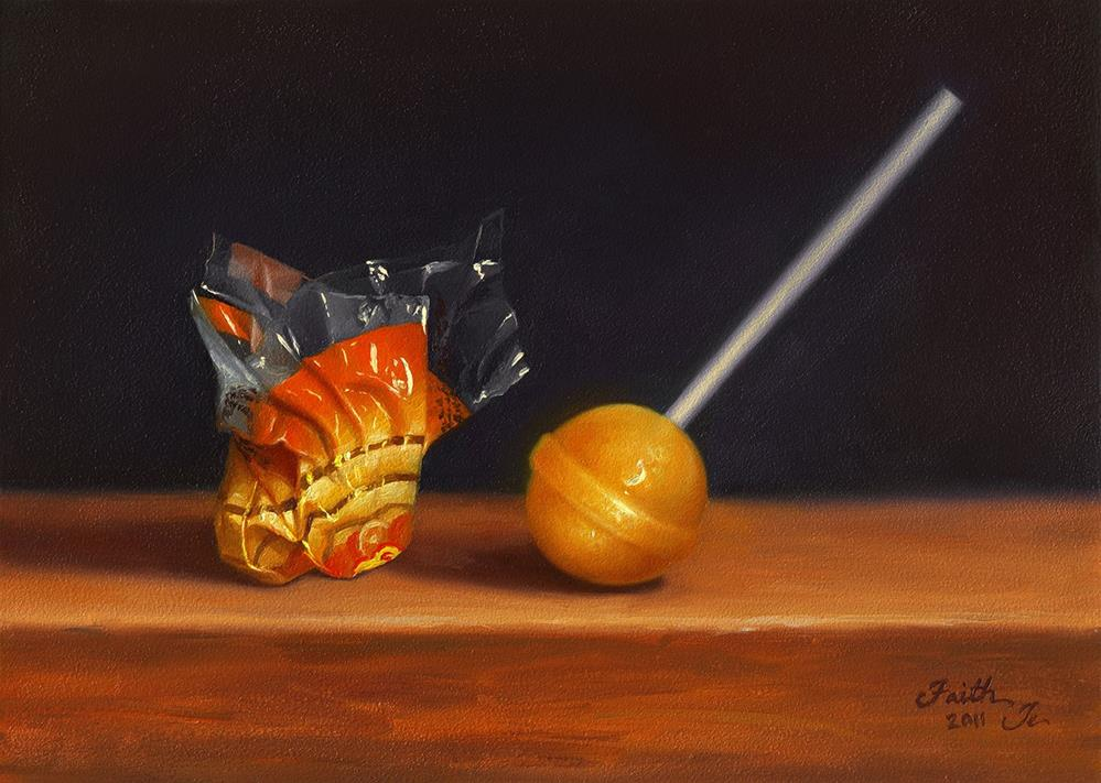 """Peeled Lollipop"" original fine art by Faith Te"