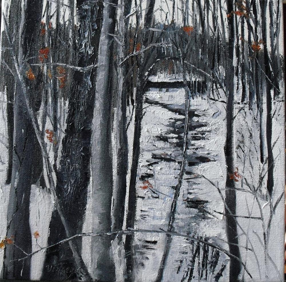 New Hampton Creek~ 12x12 ~ oil on canvas original fine art by Vincenza Harrity