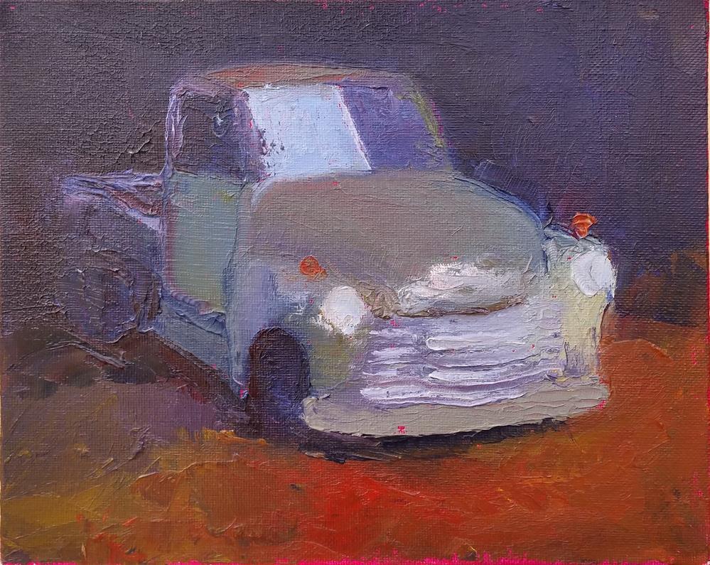 """Palette Knife Truck"" original fine art by Kim Homes"