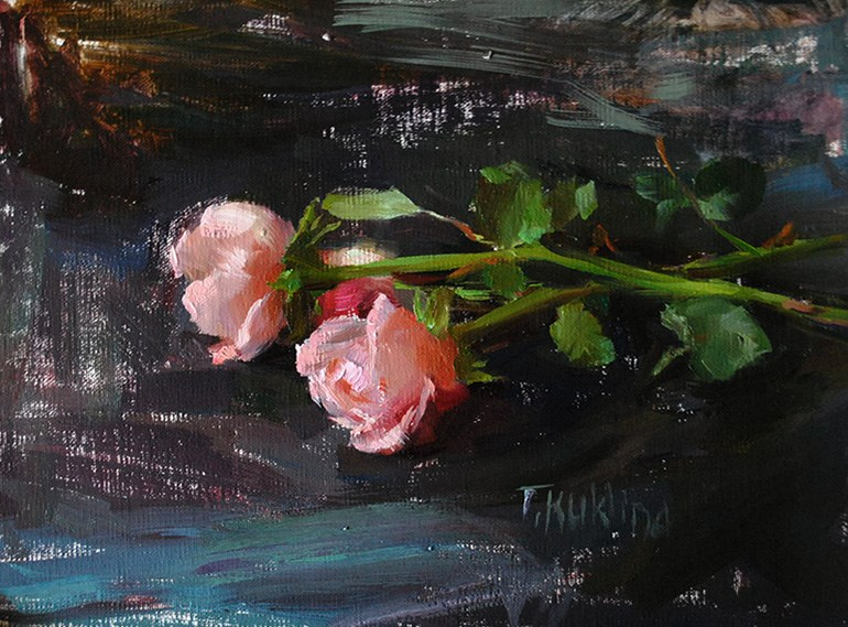 """roses"" original fine art by Taisia Kuklina"