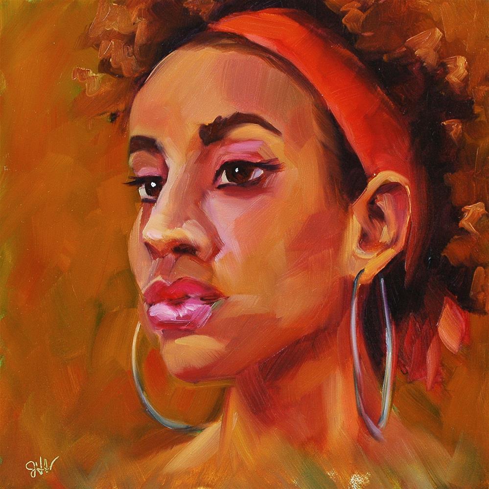 """""""Blaze"""" original fine art by Janette Harter"""