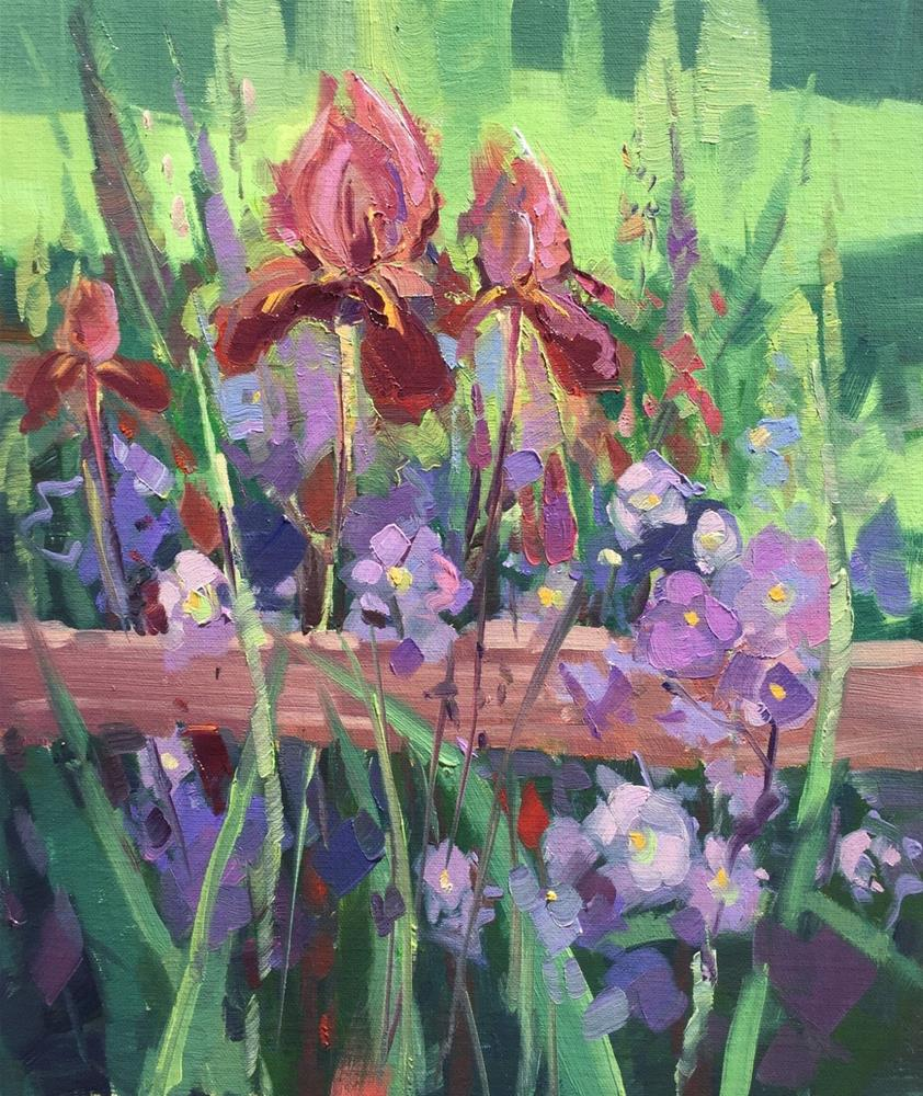 """Shaded Iris'"" original fine art by Mary Jabens"
