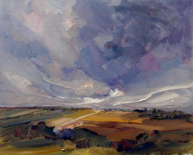 """Summer Storm"" original fine art by Anne Wood"