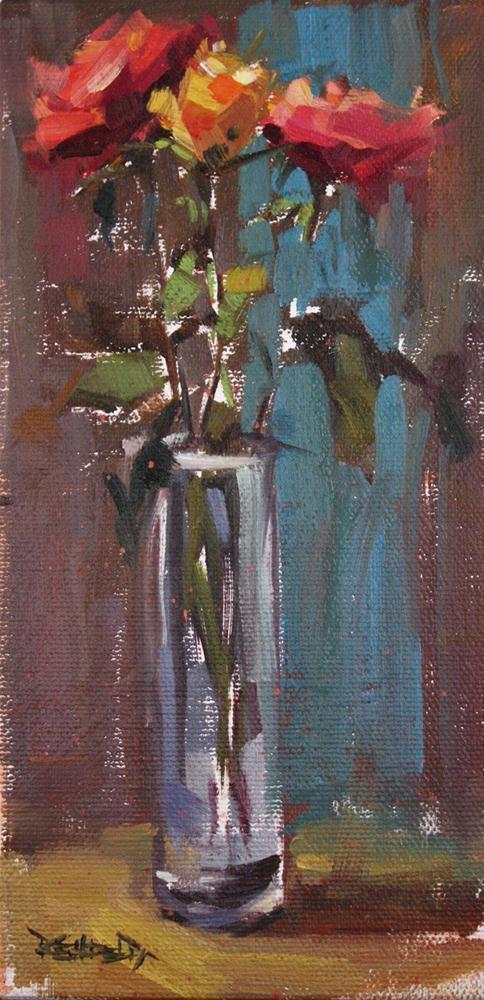 """Roses"" original fine art by Cathleen Rehfeld"
