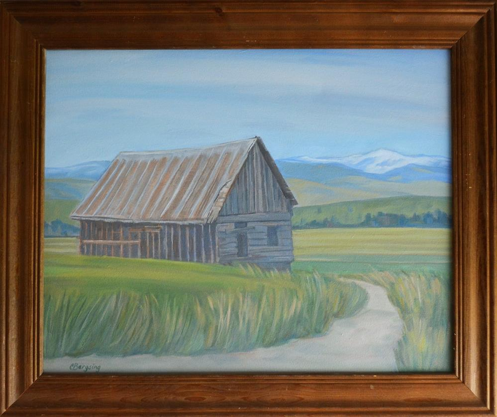 """Roadside Cabin"" original fine art by Cathy Bergsing"