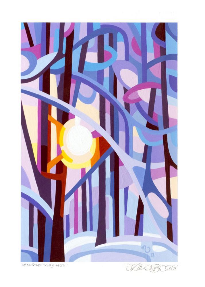 """Landscape Study #26"" original fine art by Mandy Budan"