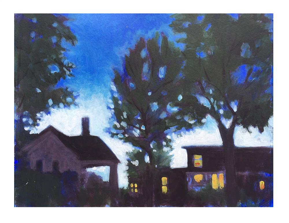 """June Light 9:18 PM"" original fine art by Suzanne Woodward"