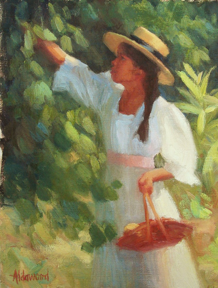 """Picking Lemons"" original fine art by Sherri Aldawood"