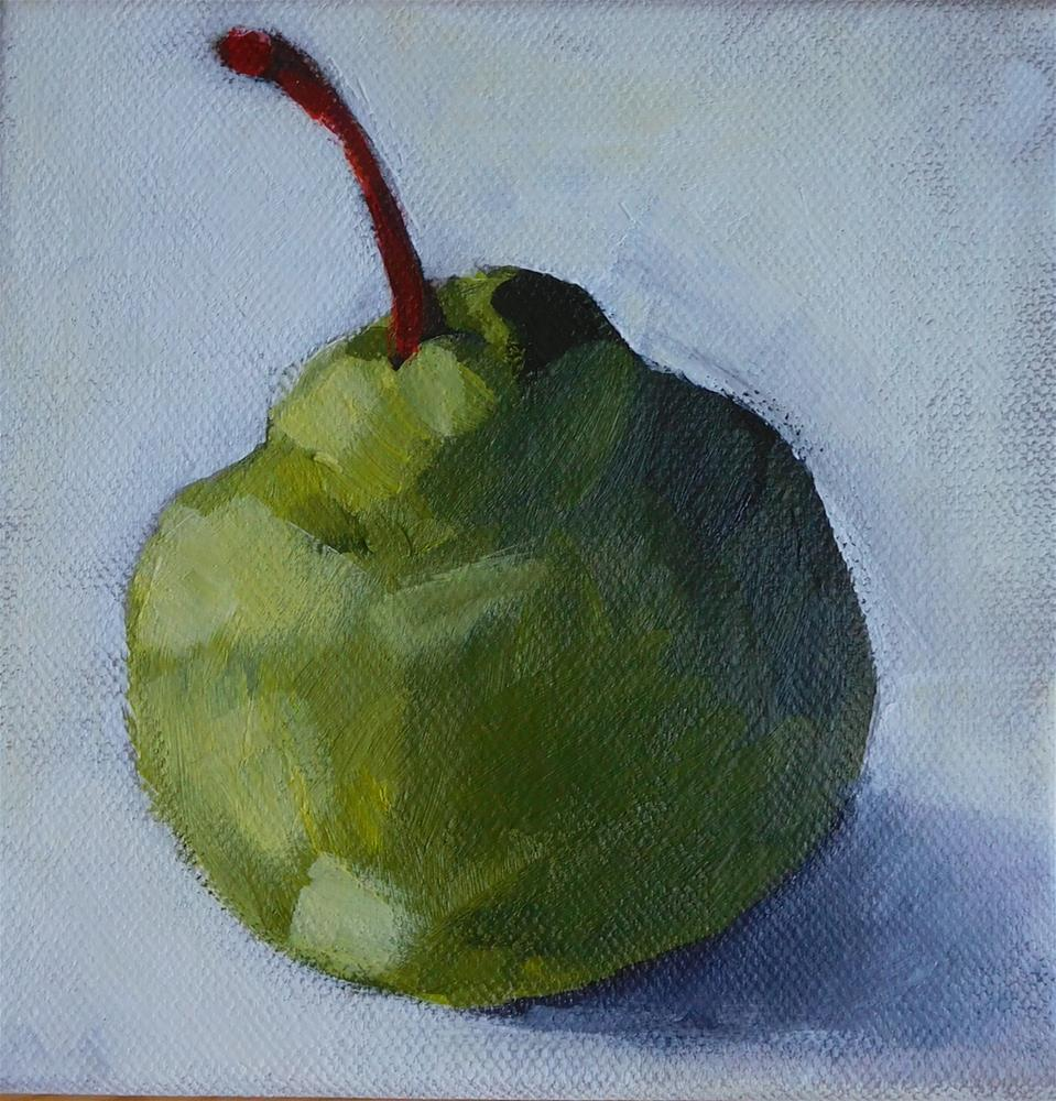 """Chubby Pear"" original fine art by Daryl West"