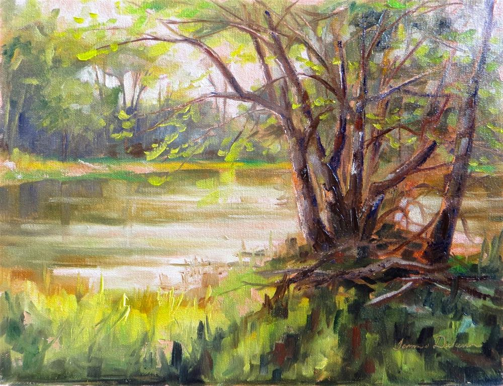 """Craggy Trees at the Wabash"" original fine art by Tammie Dickerson"