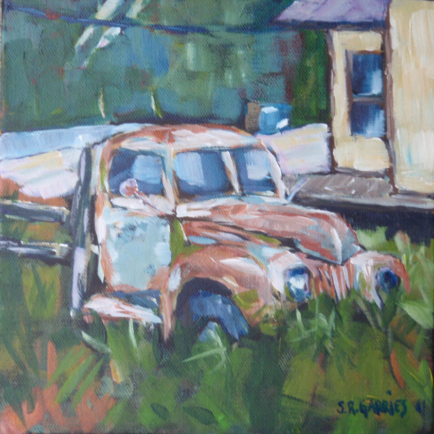 """rusty old thing"" original fine art by Shelley Garries"