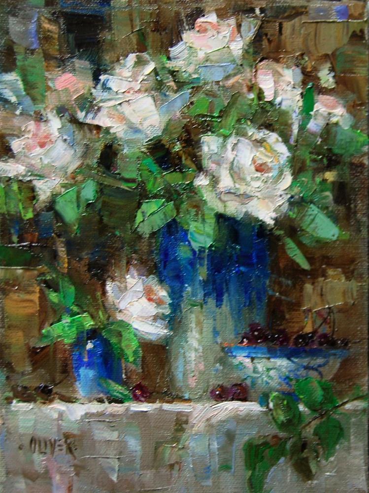 """Birthday Roses"" original fine art by Julie Ford Oliver"