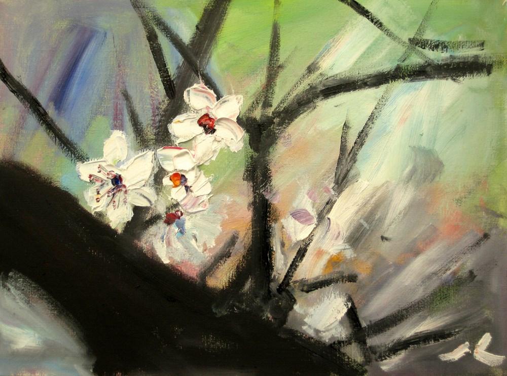 """""""Plum Blossom"""" original fine art by Julia Lu"""