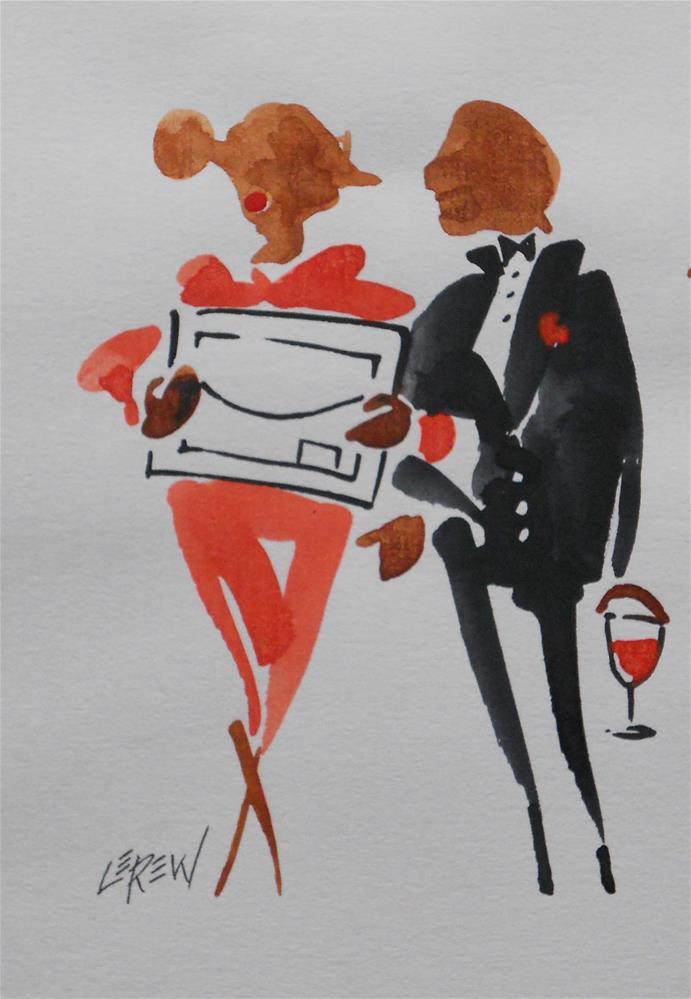 """Serendipity Blot Figure Sketch #13-07-15"" original fine art by Larry Lerew"