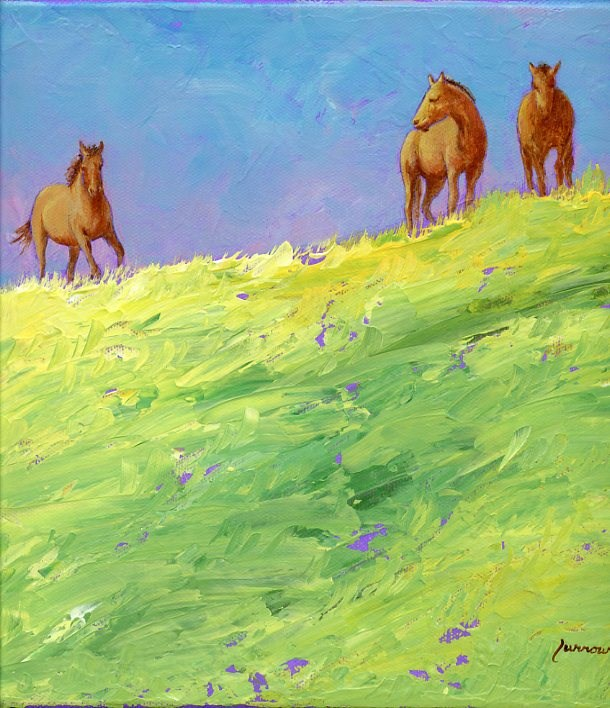 """Horses in my Field"" original fine art by Sue Furrow"