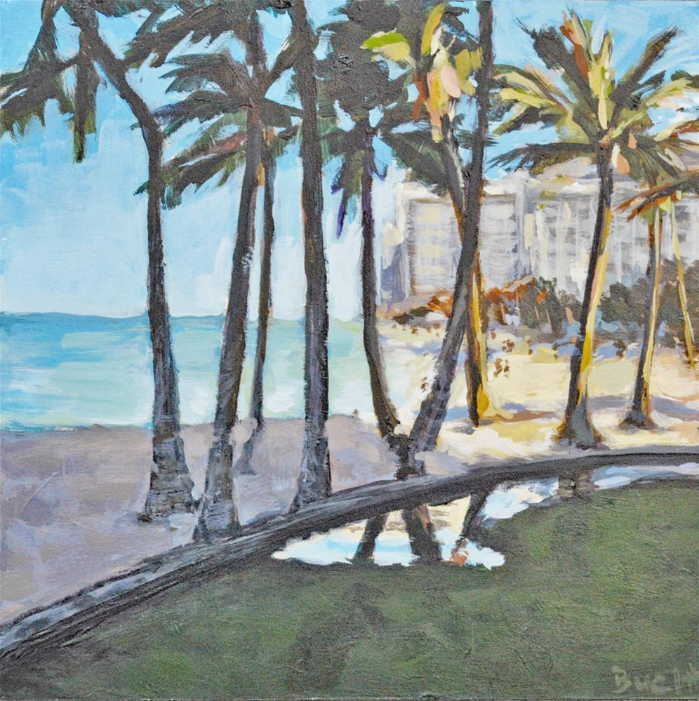 """Early Morning in Waikiki"" original fine art by Shari Buelt"