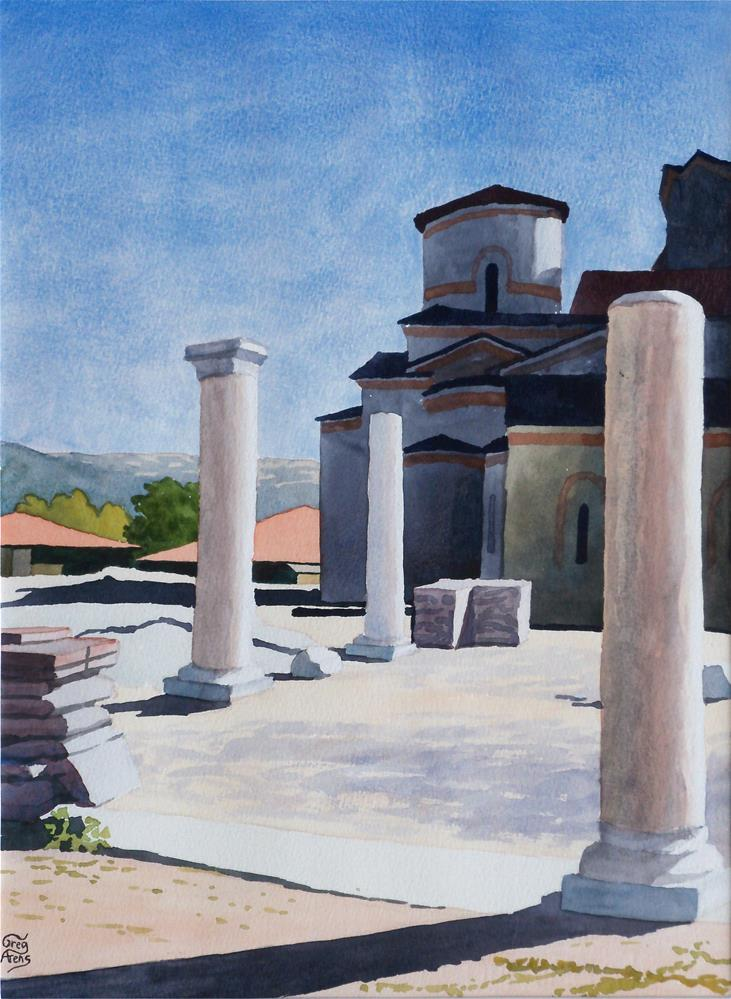 """Ohrid Columns"" original fine art by Greg Arens"