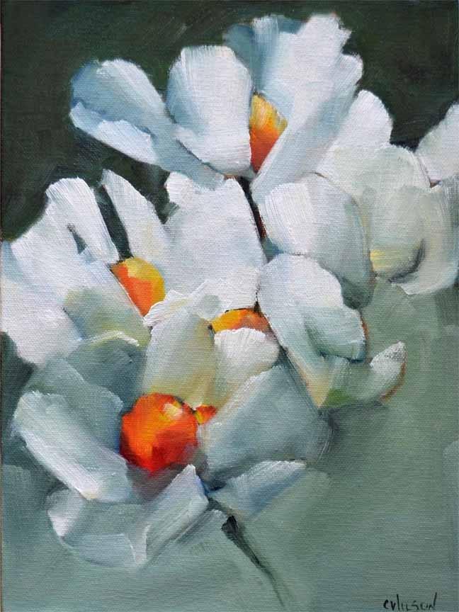 """Matilija 2"" original fine art by Cheryl Wilson"