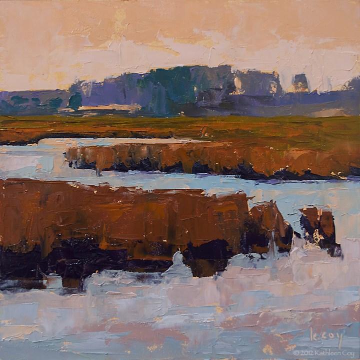 """""""Marshland - framed"""" original fine art by Kathleen Coy"""