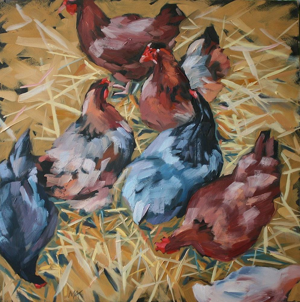 """Here a Chick....."" original fine art by Mary Anne Cary"