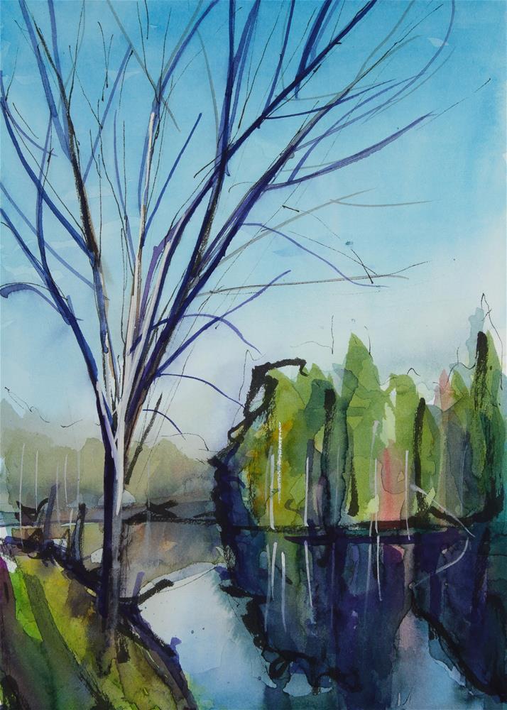 """""""Evergreens"""" original fine art by Chris  Breier"""