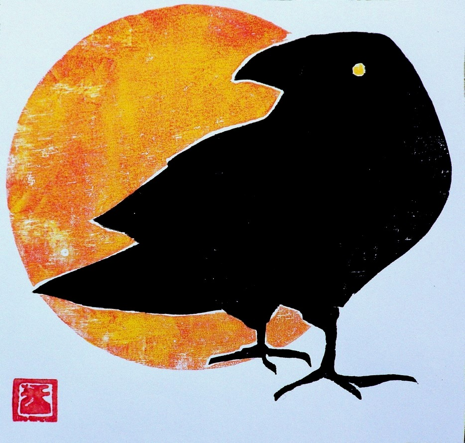 """BOLD CROW"" original fine art by Brian Cameron"