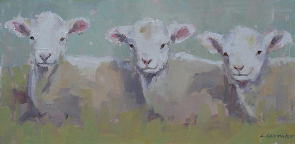 """Baaa..."" original fine art by Carol Carmichael"