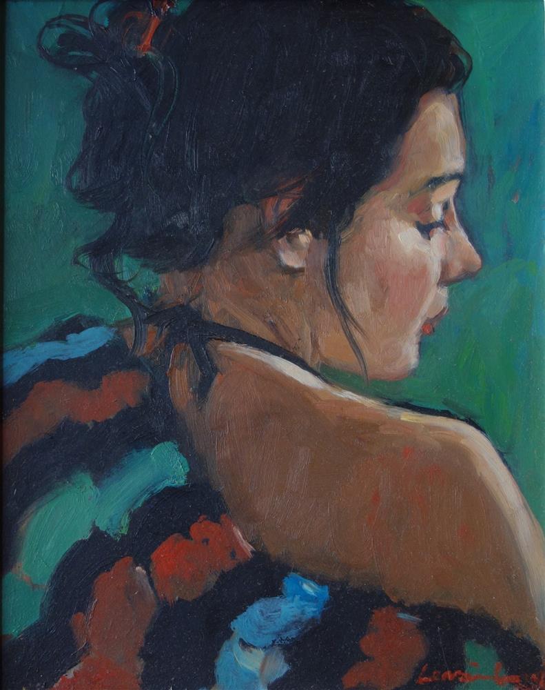 """Beach Towel"" original fine art by Lorraine Lewitzka"