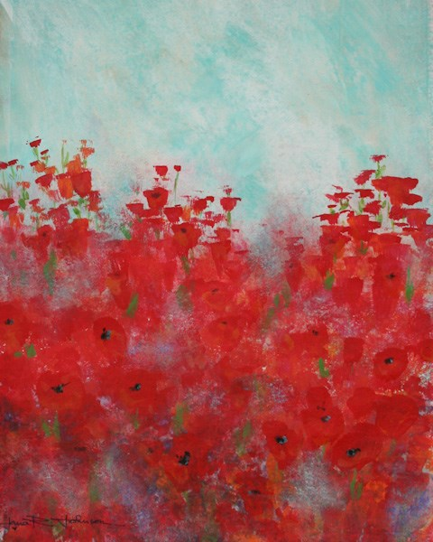 """Perky Poppies"" original fine art by Jana Johnson"