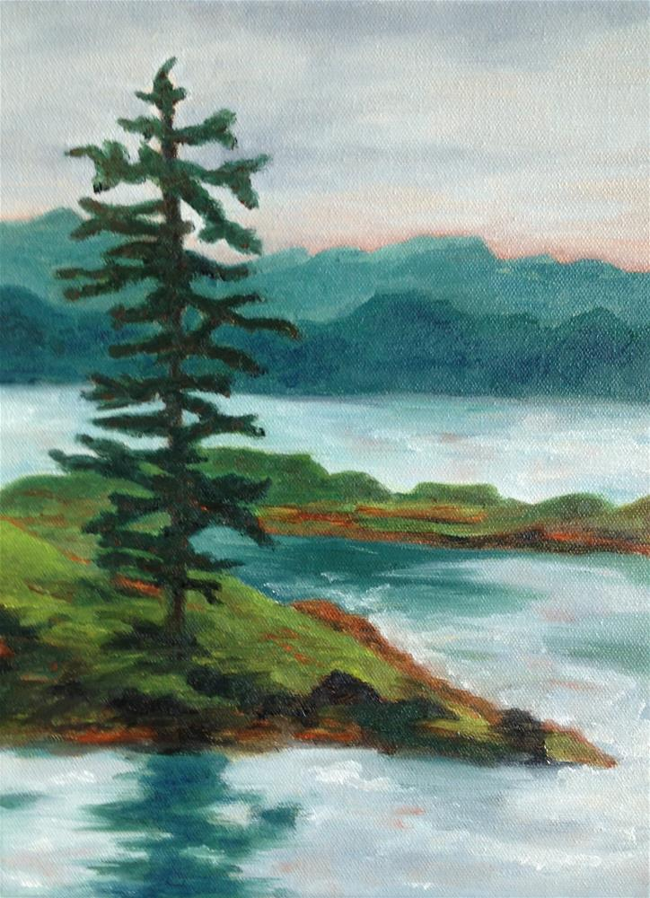 """Pine Island"" original fine art by Karen Collins"