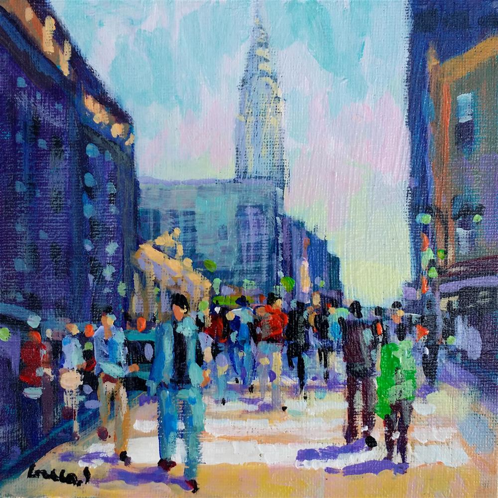 """New-York #"" original fine art by salvatore greco"