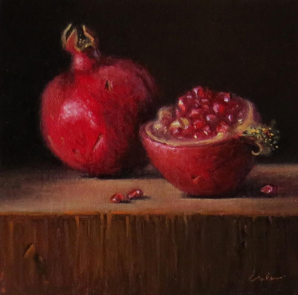 """Still Life with Pomegranates"" original fine art by Darla McDowell"