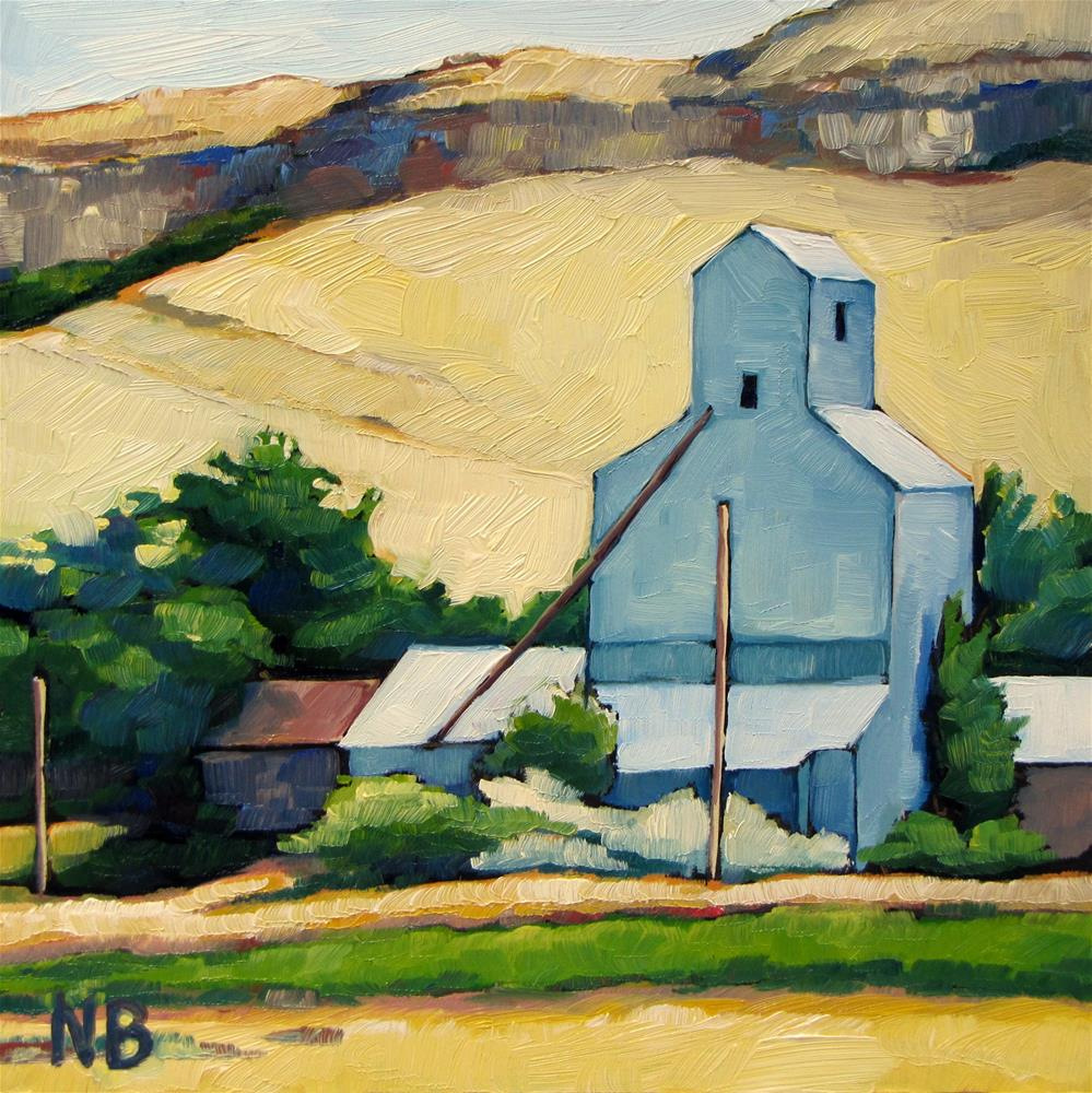 """Winnett Elevator"" original fine art by Nora Bergman"