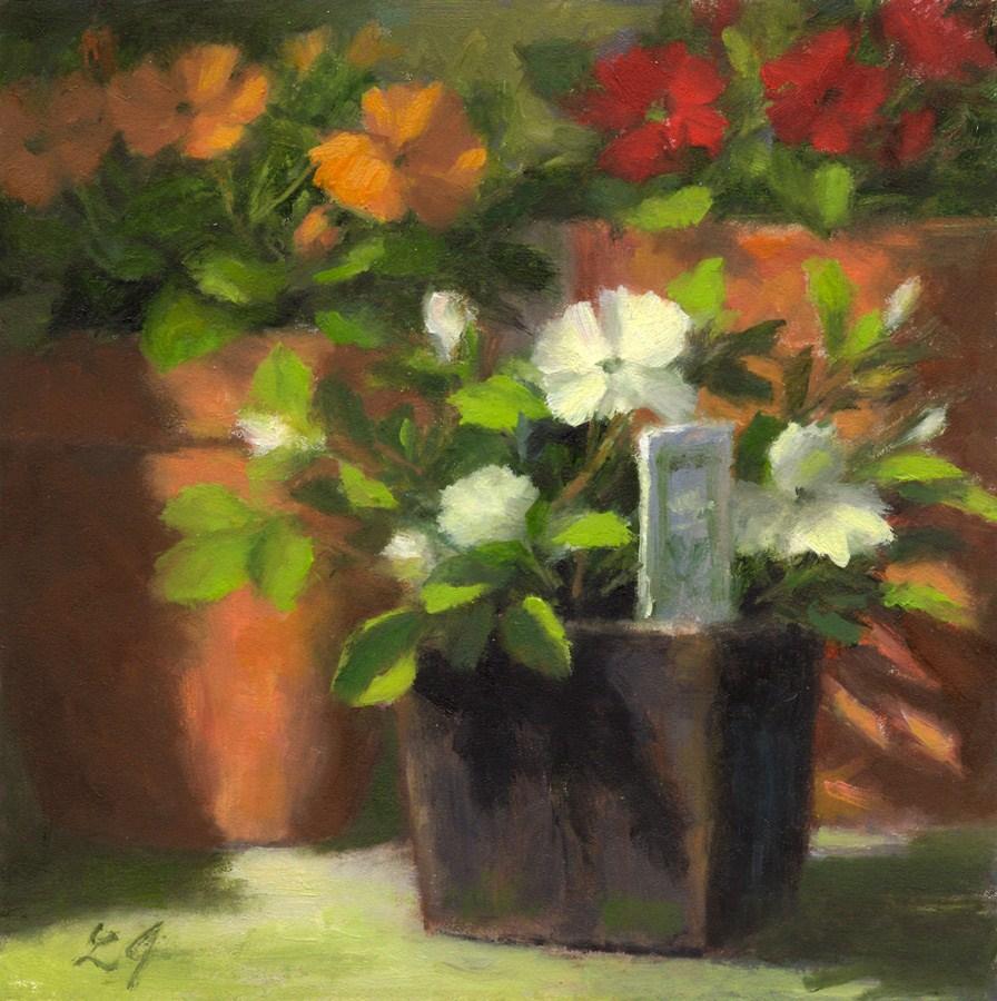 """""""Impatiens"""" original fine art by Linda Jacobus"""