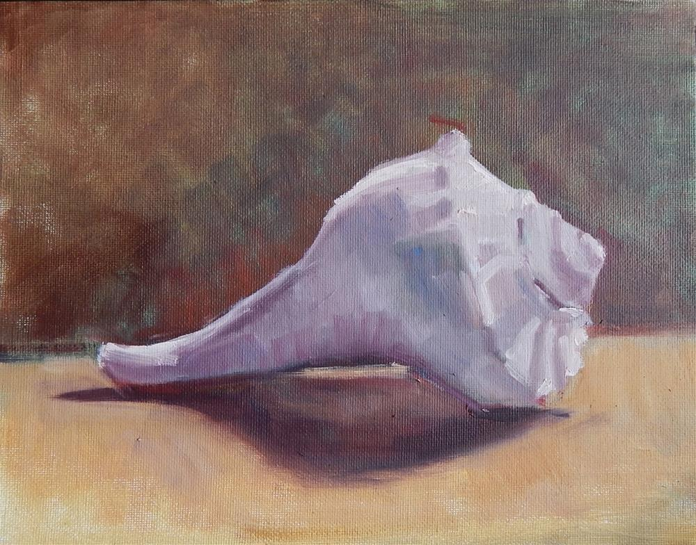 """Seashell"" original fine art by Megan Schembre"