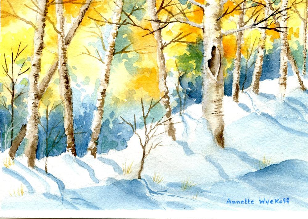 """Late Autumn Aspen"" original fine art by Annette Wyckoff"