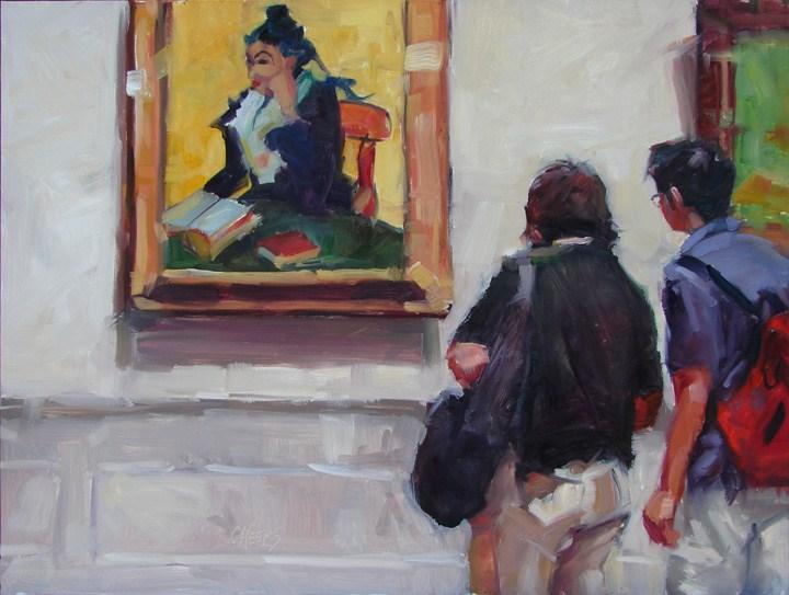 """L'Arlesienne Lady"" original fine art by Robin Cheers"