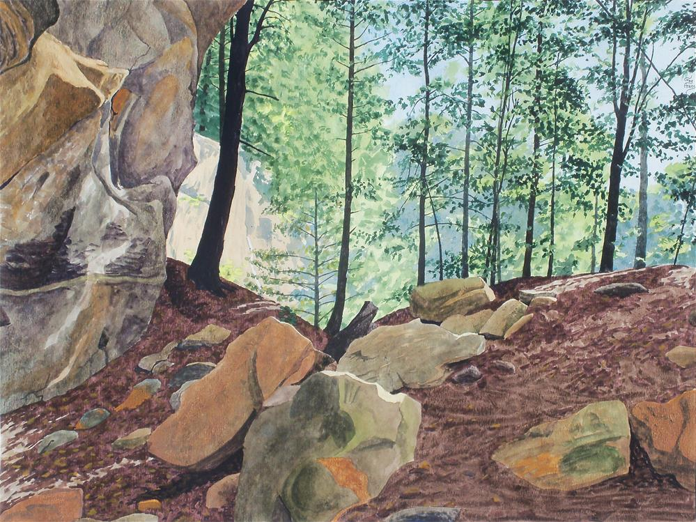 """Queer Creek Cliffs"" original fine art by Greg Arens"