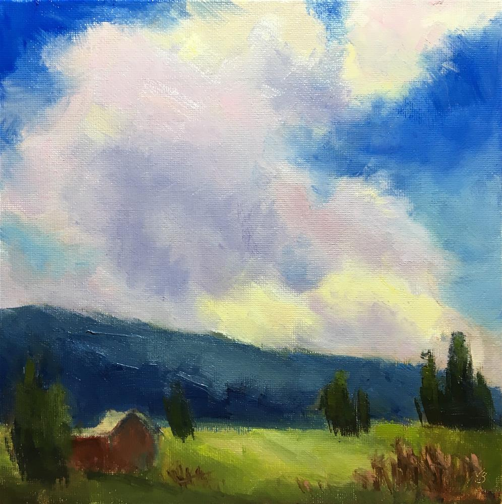 """Glorious Clouds Too"" original fine art by Victoria  Biedron"