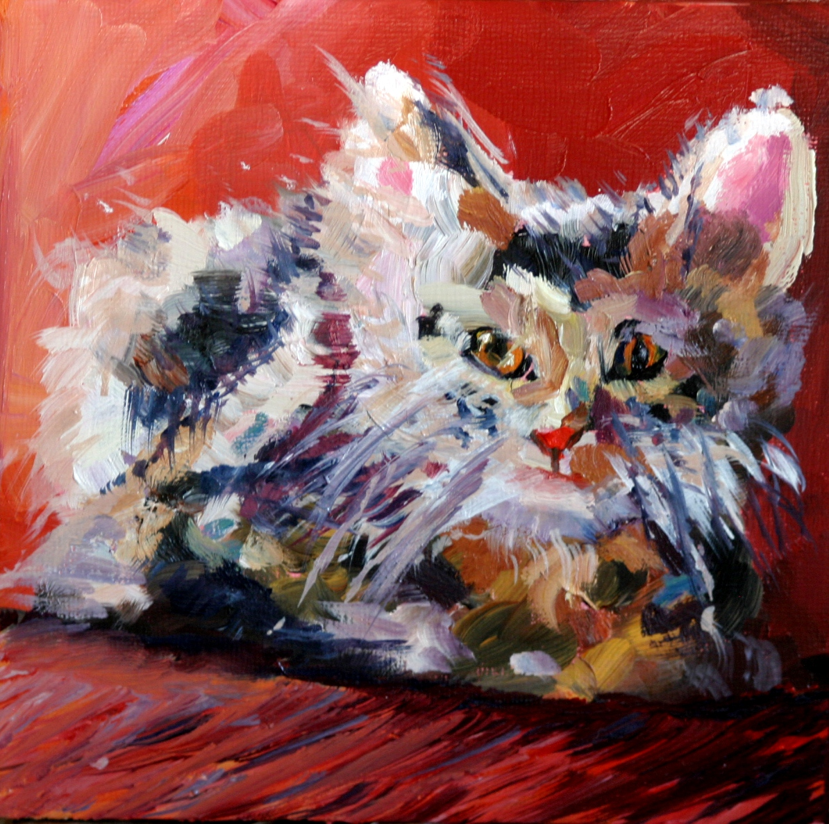"""Kitty 2"" original fine art by Kristen Dukat"