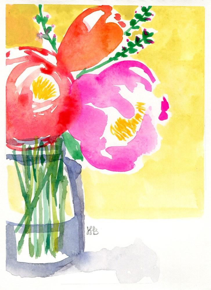 """Flowers For Zoe"" original fine art by Heather Bennett"