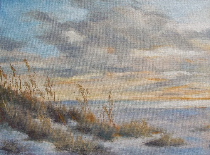 """Soft Summer Evening - 353"" original fine art by Laura  Buxo"