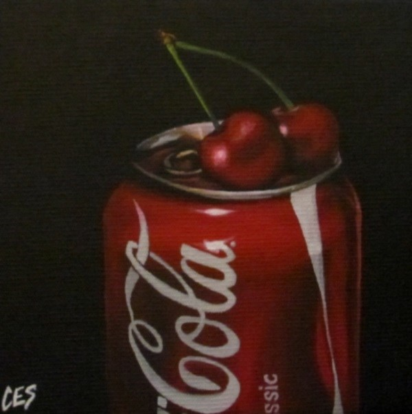 """Cherry Coke"" original fine art by ~ces~ Christine E. S. Code"