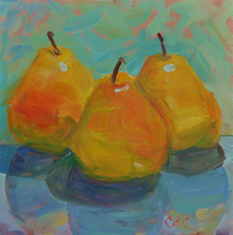 """Chain of Pears"" original fine art by Catherine Crookston"