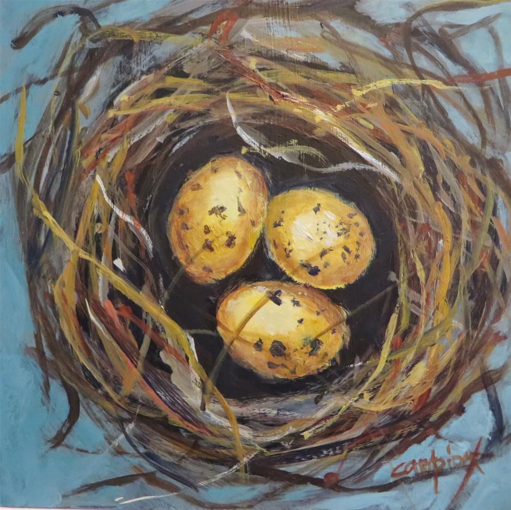 """607 Triplets"" original fine art by Diane Campion"