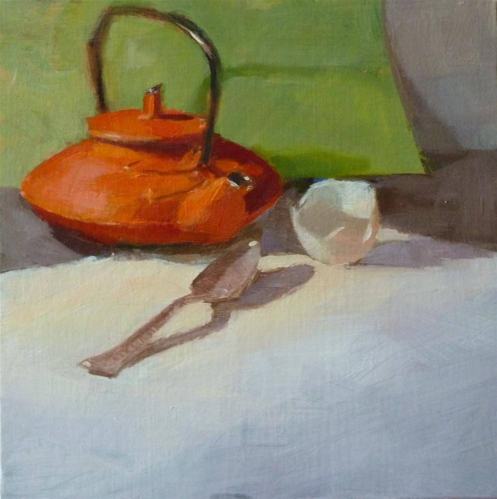 """""""Egg Shell & Spoon"""" original fine art by Ron Ferkol"""