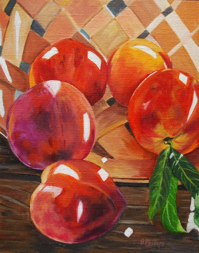 """Peaches for my father"" original fine art by Beverley Phillips"