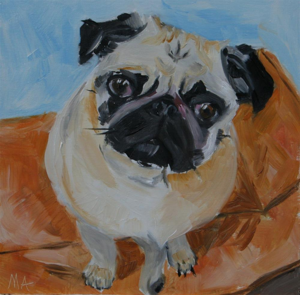 """My Blogfriend, Chester"" original fine art by Aniko Makay"