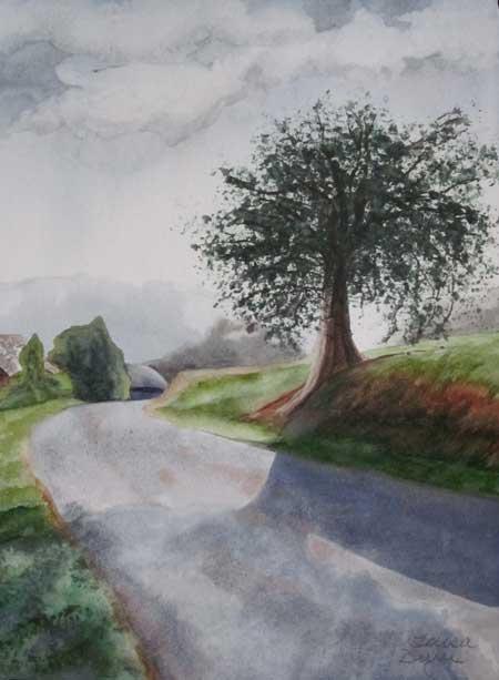 """Tree"" original fine art by Teresa Beyer"