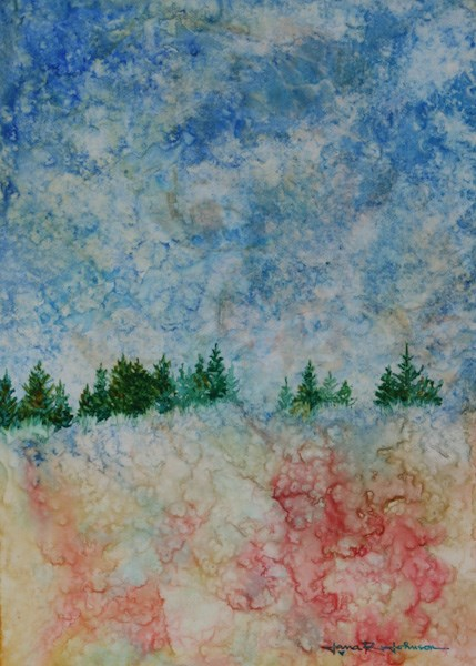 """At The Top Of The Hill"" original fine art by Jana Johnson"